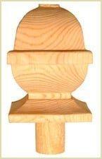 Install Newel Caps - Square Acorn Newel Cap