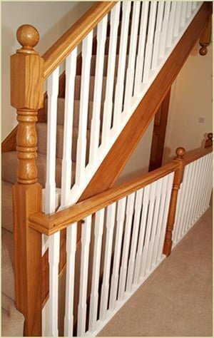 install our staircases - fix on newel cap with glue