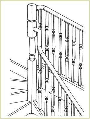 intermeadiate posts used in conjunction with continuous handrail
