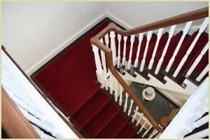 Staircase Newel Cap - Cambridge Cut String Staircase