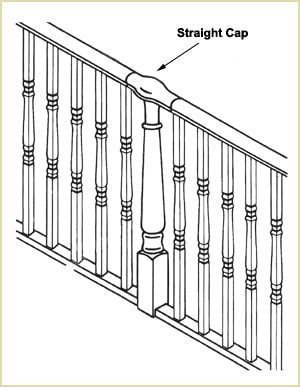 Staircase Newel Cap - Straight Newel Cap
