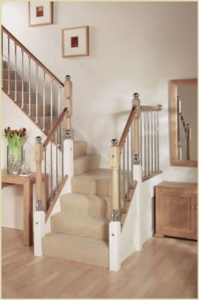 metal ball newel cap staircase