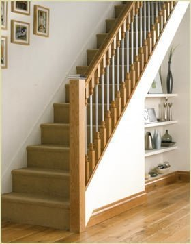 flat newel cap staircase (newel caps)