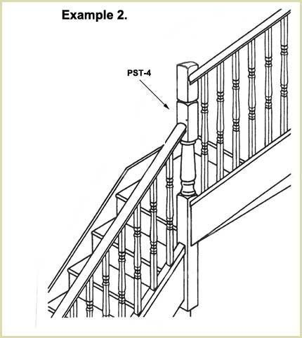 staircase newel example 2