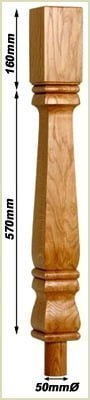 staircase newel posts - provinical newels