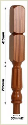 staircase newel posts - oxford fluted newels