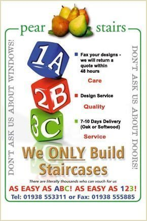 staircases - we only build staircases its easy as abc