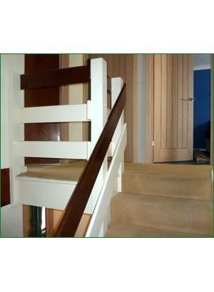 staircase renovations - the spruce hill renovation before