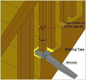remove spinde with wrench