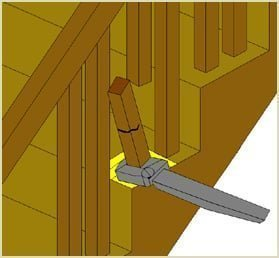 twist spindle to fee dowel joint