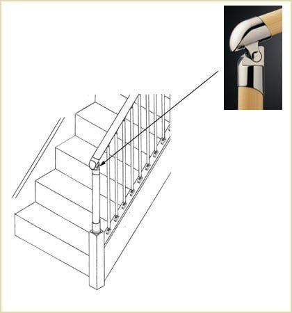 Fusion™ Closed String Staircase Bottom Connector (Part Ref MMBC)