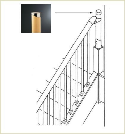 Fusion™ Closed String Staircase End Cap MMEC