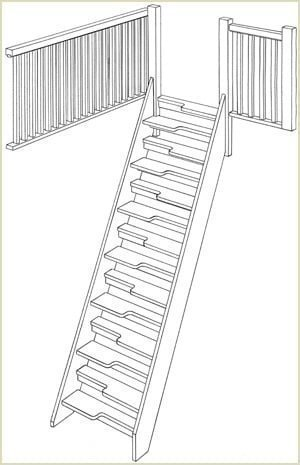 space saver staircase design drawing