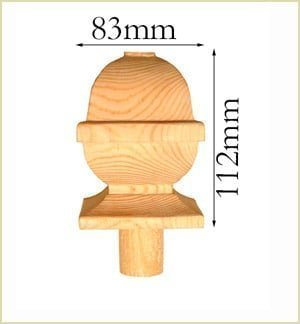 Staircase Glossary - Newel Caps
