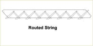 Staircase Glossary - Routed String