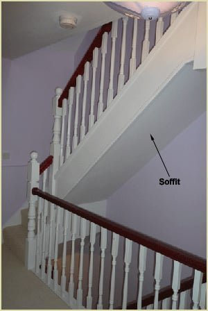 Staircase Glossary - Soffit