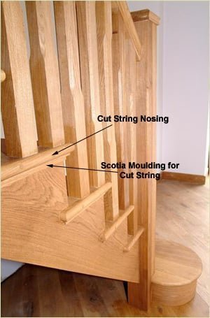 Staircase Glossary - Cut String Nosing