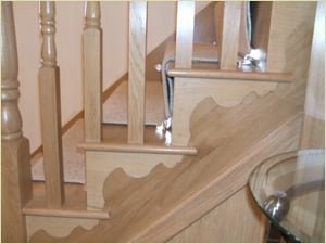 Staircase Glossary - Cut String with bracket