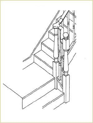 Staircase Glossary - Continuous Handrail