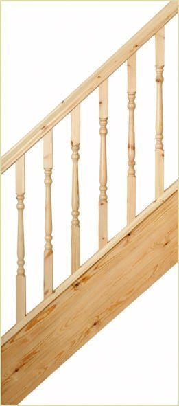 spindles - pine display