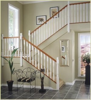 spindles - example white primed staircase