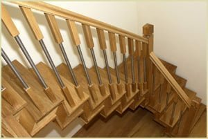 spindles - wood and metal staircase spindle
