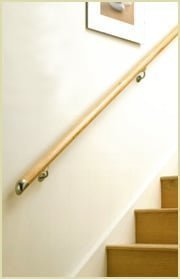 contemporary end-caps (wall mounted handrails)