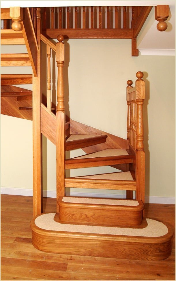 because we make staircases like this - oak open tread winder staircase