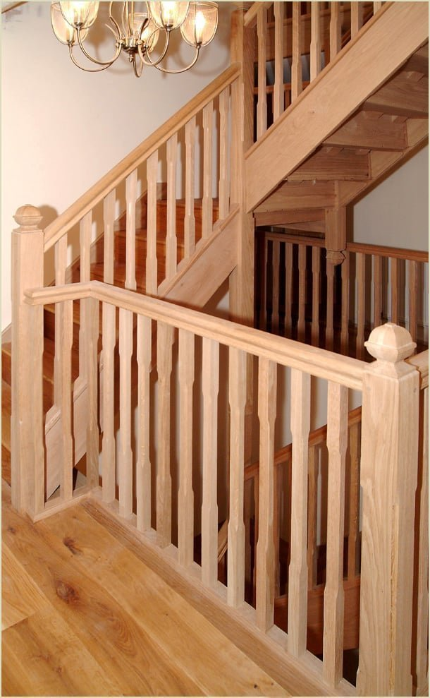 because we make staircase like - the oak quarter landing staircase