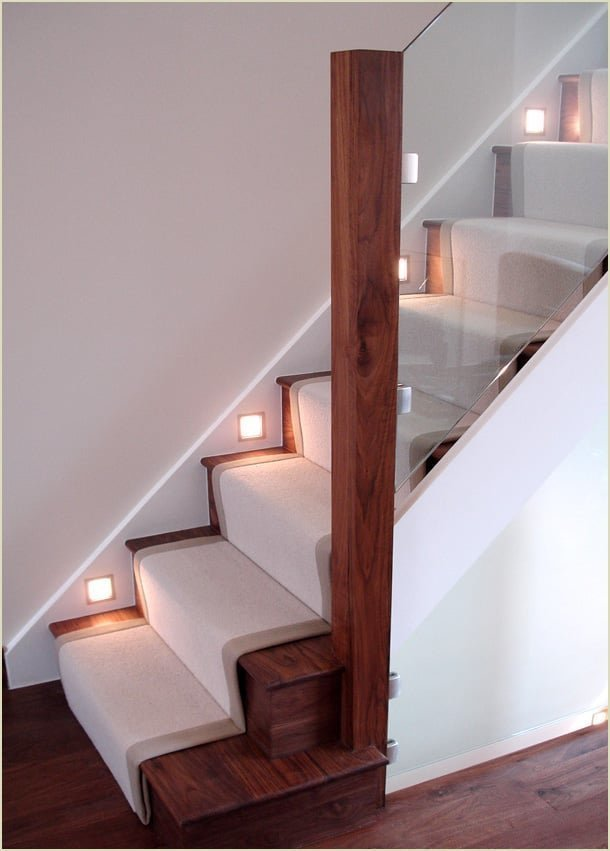 because we make staircases like - the walnut and glass staircase