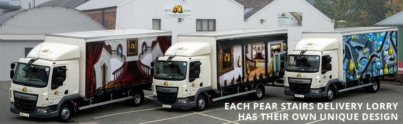 Pear Stairs delivery lorry