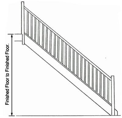 Stair height measurements