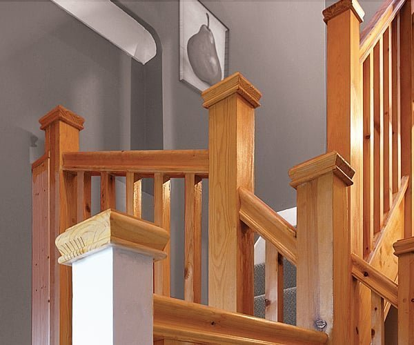 Pear Stairs handrail and newels