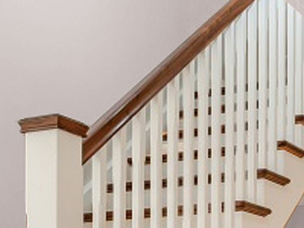Wooden stair balustrade
