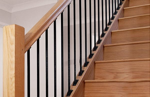 Metal stair balustrade