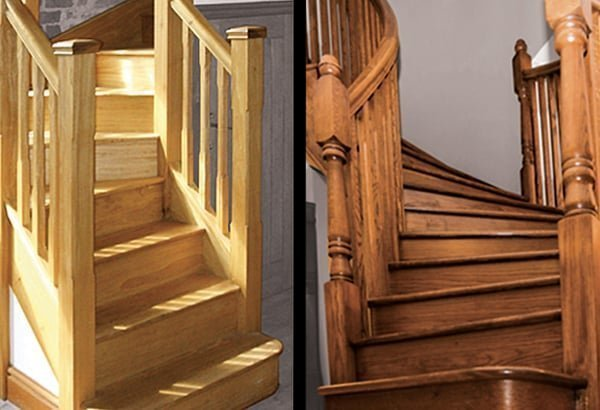 Wooden staircases by Pear Stairs