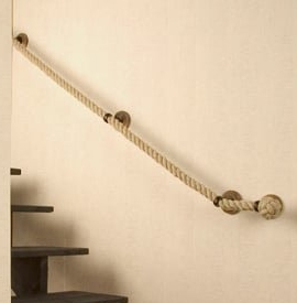 rope handrail can be used for a spacesaver staircase