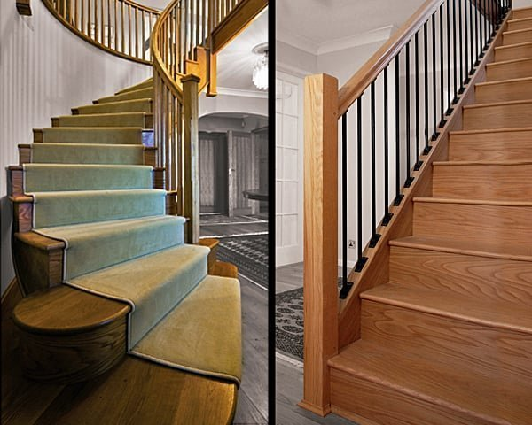Curved and straight staircases by Pear Stairs