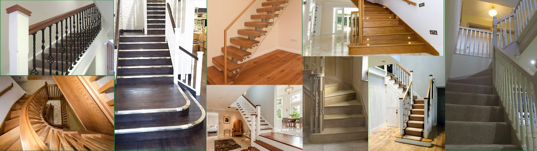 A range of different staircase designs that have been done for customer of pear stairs over the years