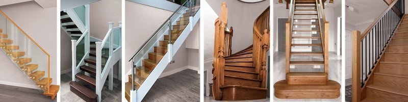 A selection of six staircases designed by Pear Stairs