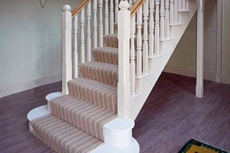 White painted staircase