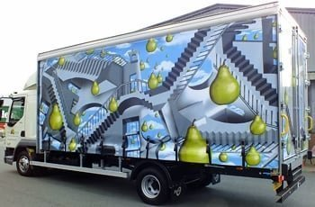 Pear Stairs lorry
